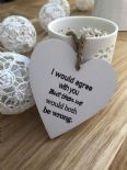 Shabby Personalised Chic Heart Plaque ~ Friend ~ Humour ~ Birthday Present Gift - 253453028392